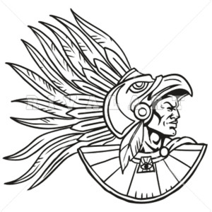 Aztec Warrior clipart Aztec of Wearing Wearing Image