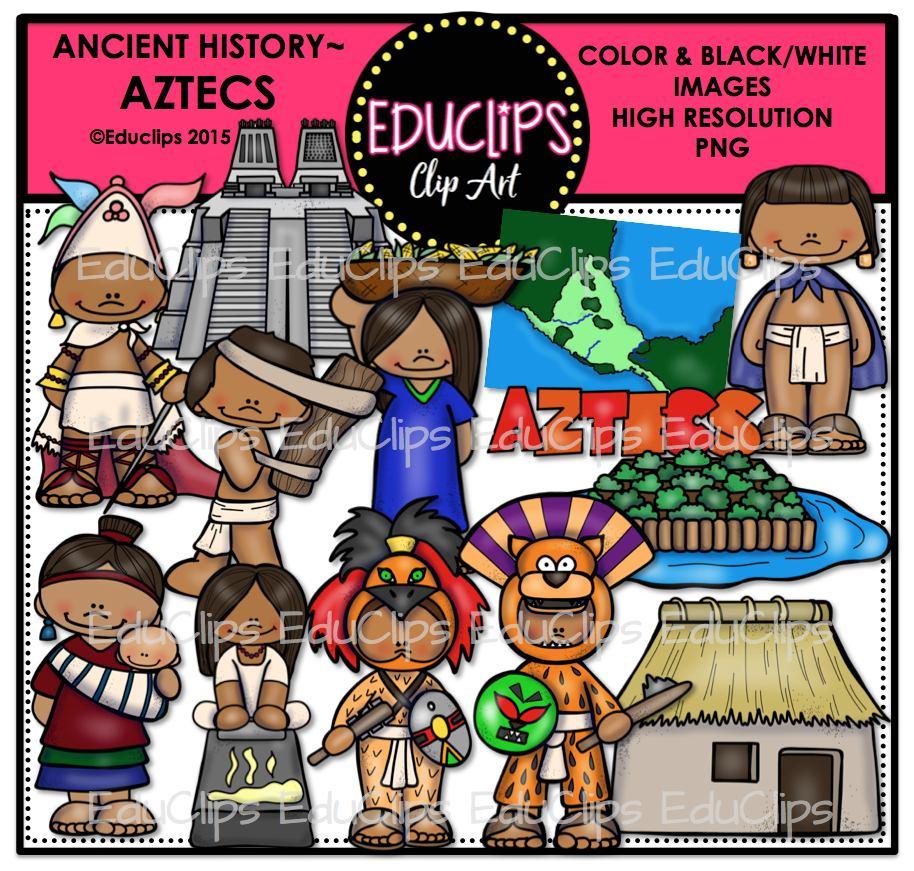 Aztec Warrior clipart ancient Bundle – Aztecs Clip