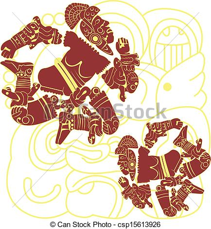 Aztec Warrior clipart artwork #9