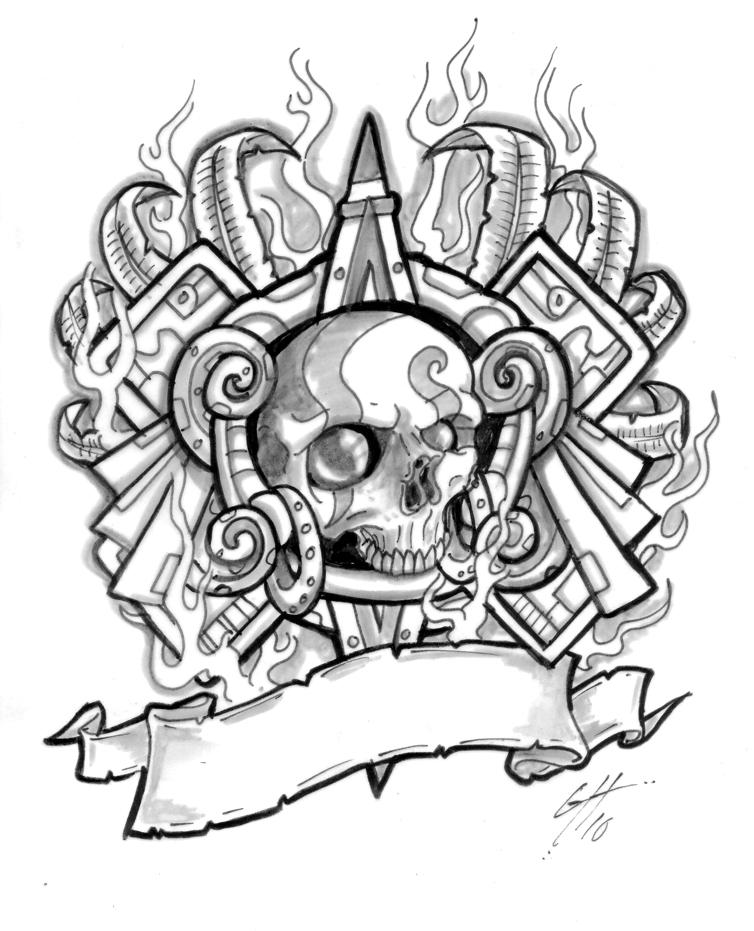Aztec Warrior clipart artwork #5