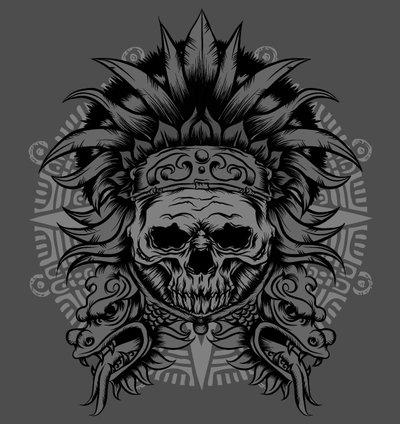 Aztec Warrior clipart artwork #11