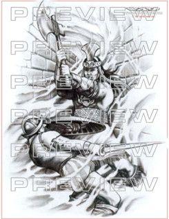 Aztec Warrior clipart artwork #7
