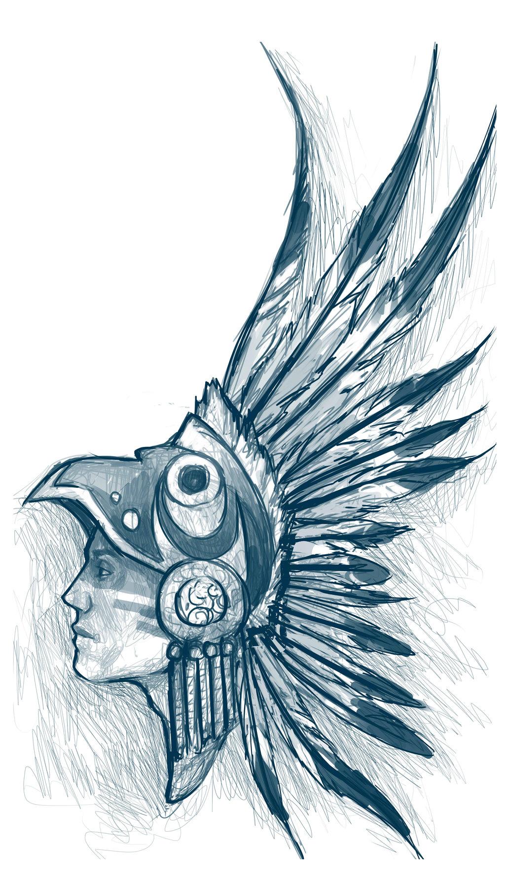 Aztec Warrior clipart artwork #3