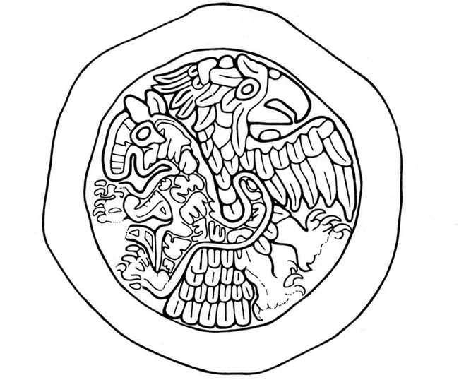 Aztec Warrior clipart artwork #8