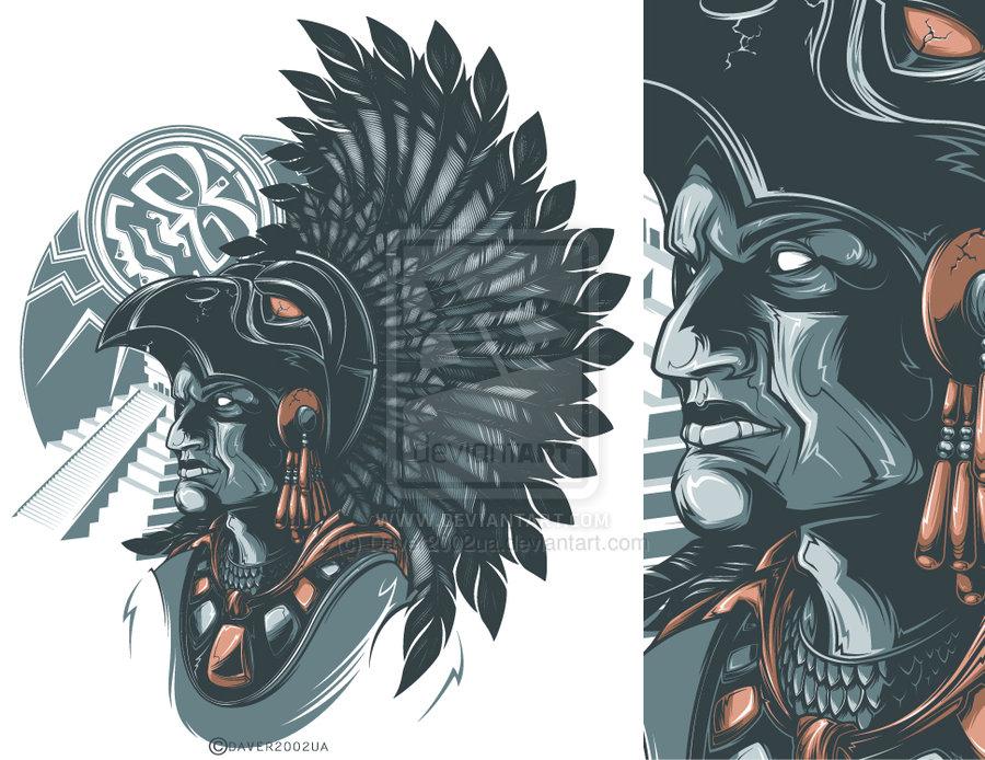Aztec Warrior clipart artwork #6