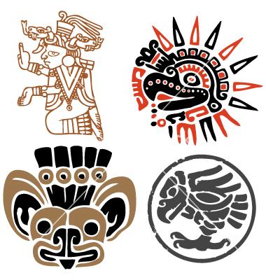 Aztec Warrior clipart artwork #13