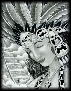 Aztec Warrior clipart artwork #10