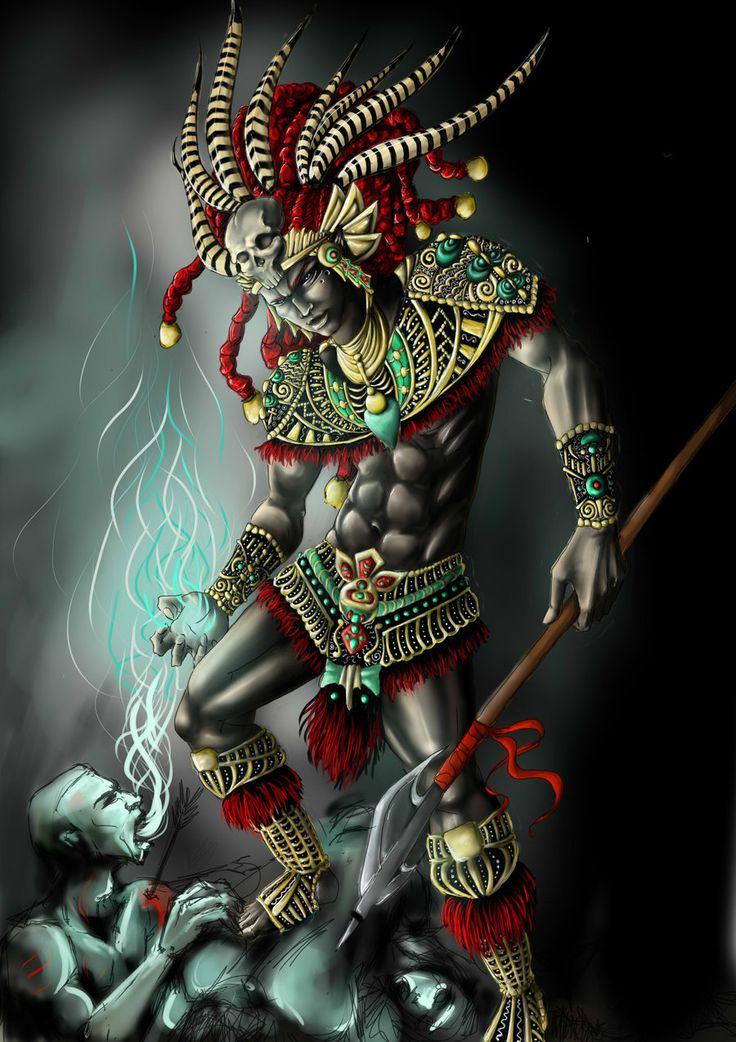 Aztec Warrior clipart artwork #12