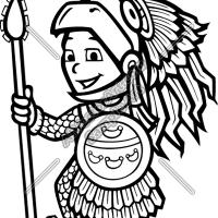 Aztec Warrior clipart black and white Clipart Logo com clipartpig Clipart