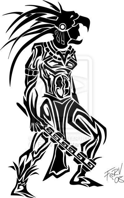 Aztec Warrior clipart black and white Aztec on tattoo warrior Best