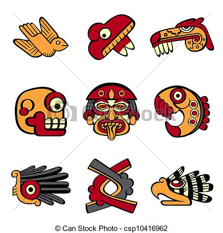 Aztec clipart aztec god #4