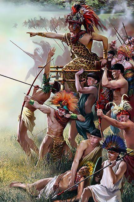 Aztec Warrior clipart fighting #8