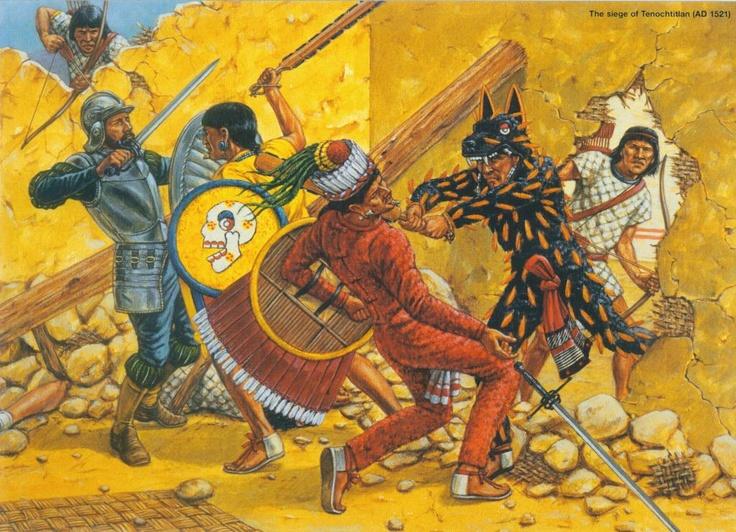 Aztec Warrior clipart fighting #9