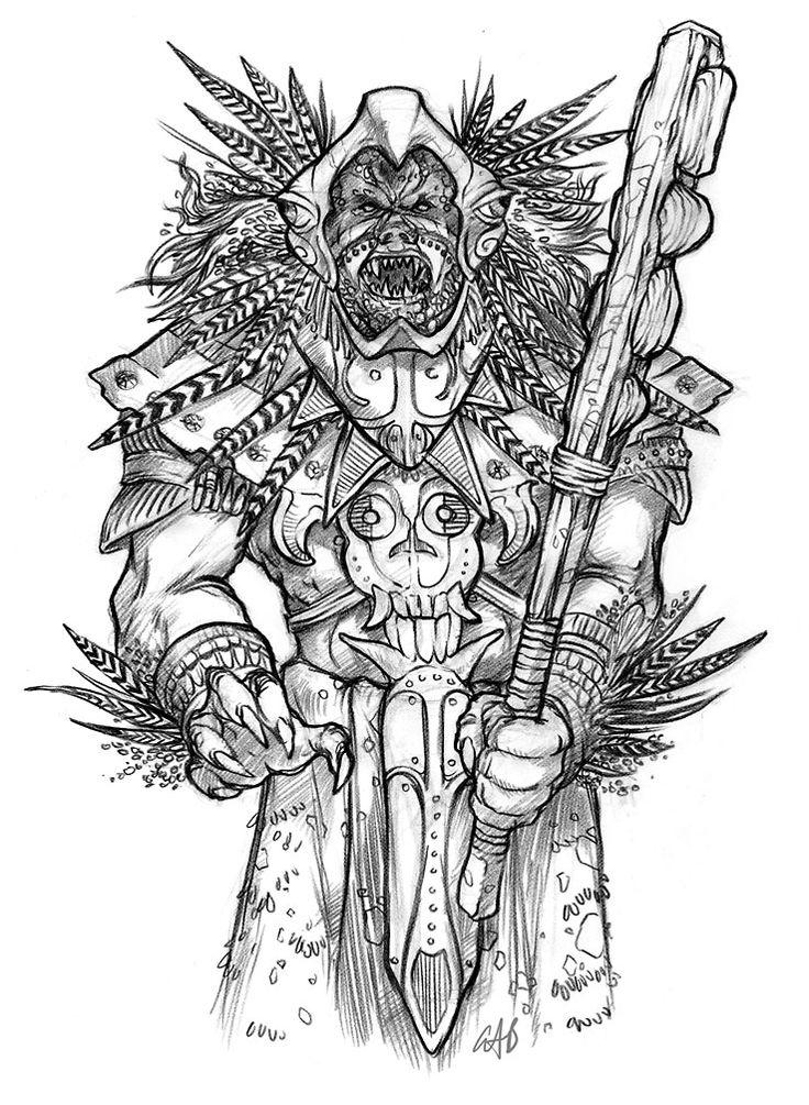 Aztec Warrior clipart fighting #4