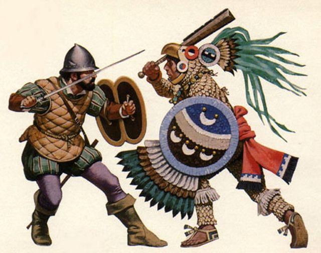 Aztec Warrior clipart fighting #2