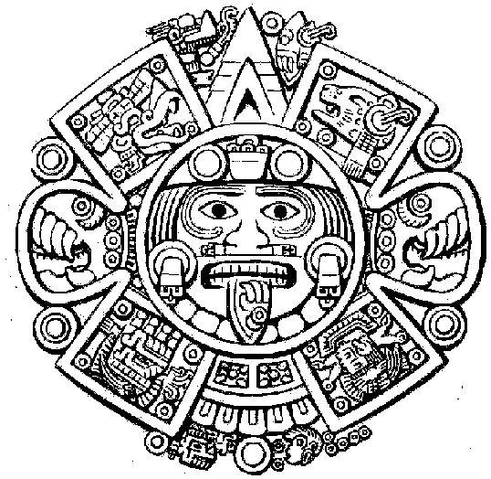 Aztec clipart sun god #1