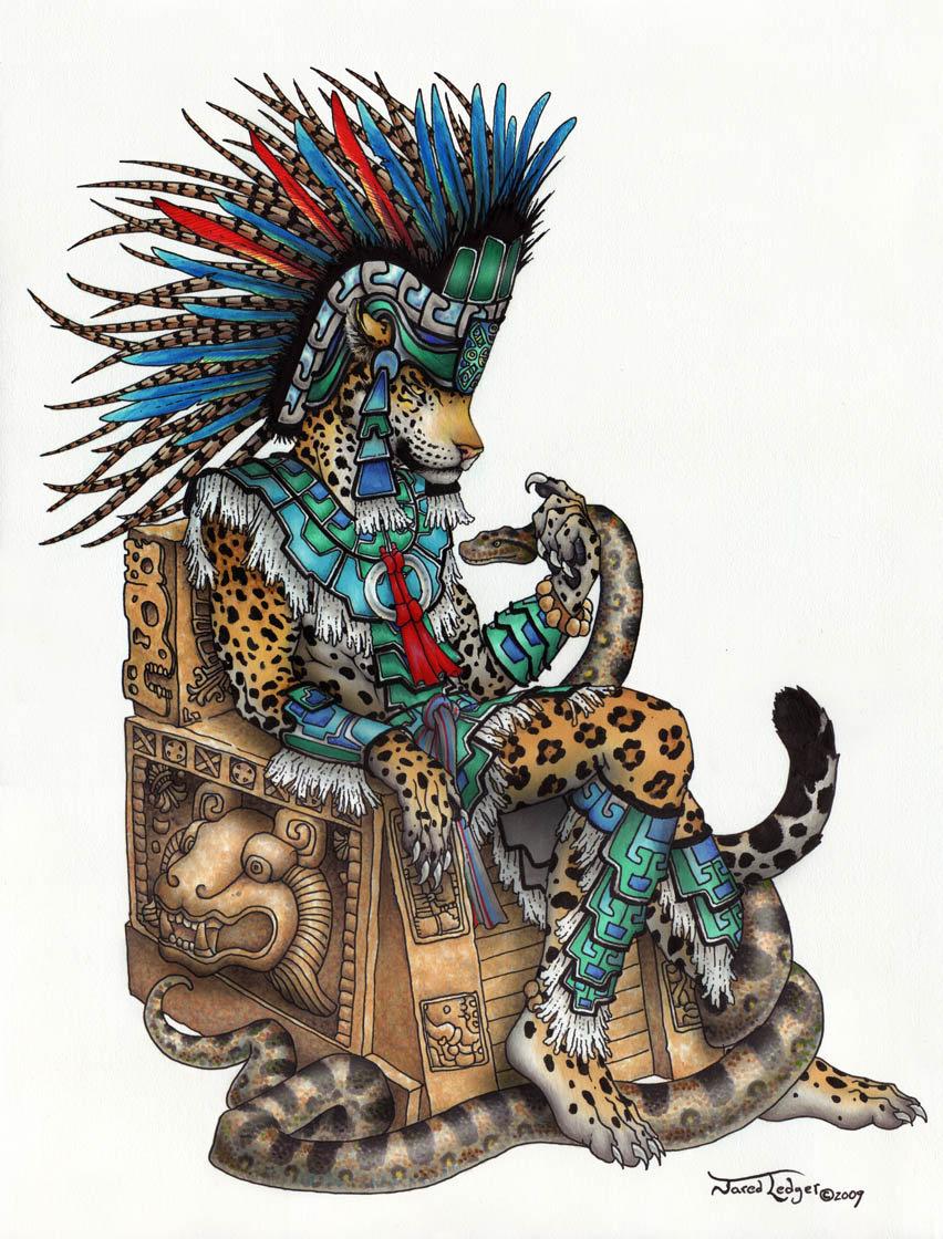 Drawn jaguar cougar Jaguar ScribbleFox Tepeyollotl by