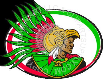 Aztec clipart head #1
