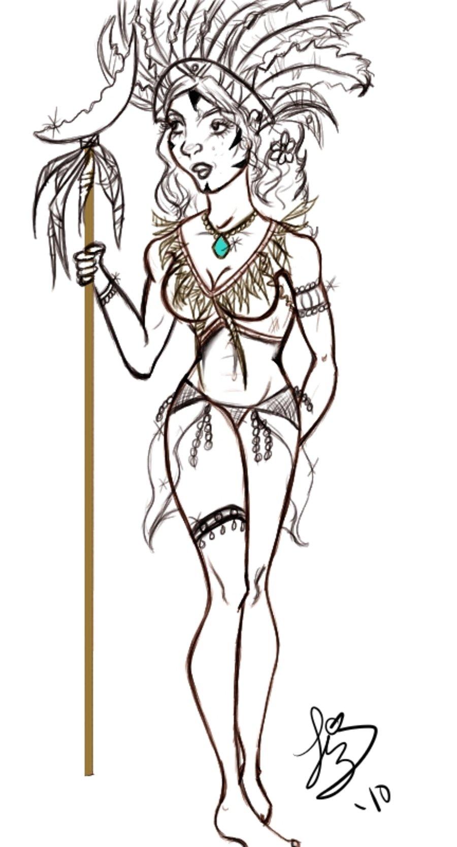 Aztec Warrior clipart princess Tattoos Their and princess drawings