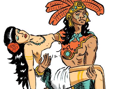 Aztec Warrior clipart Me Garza an Jon illustration