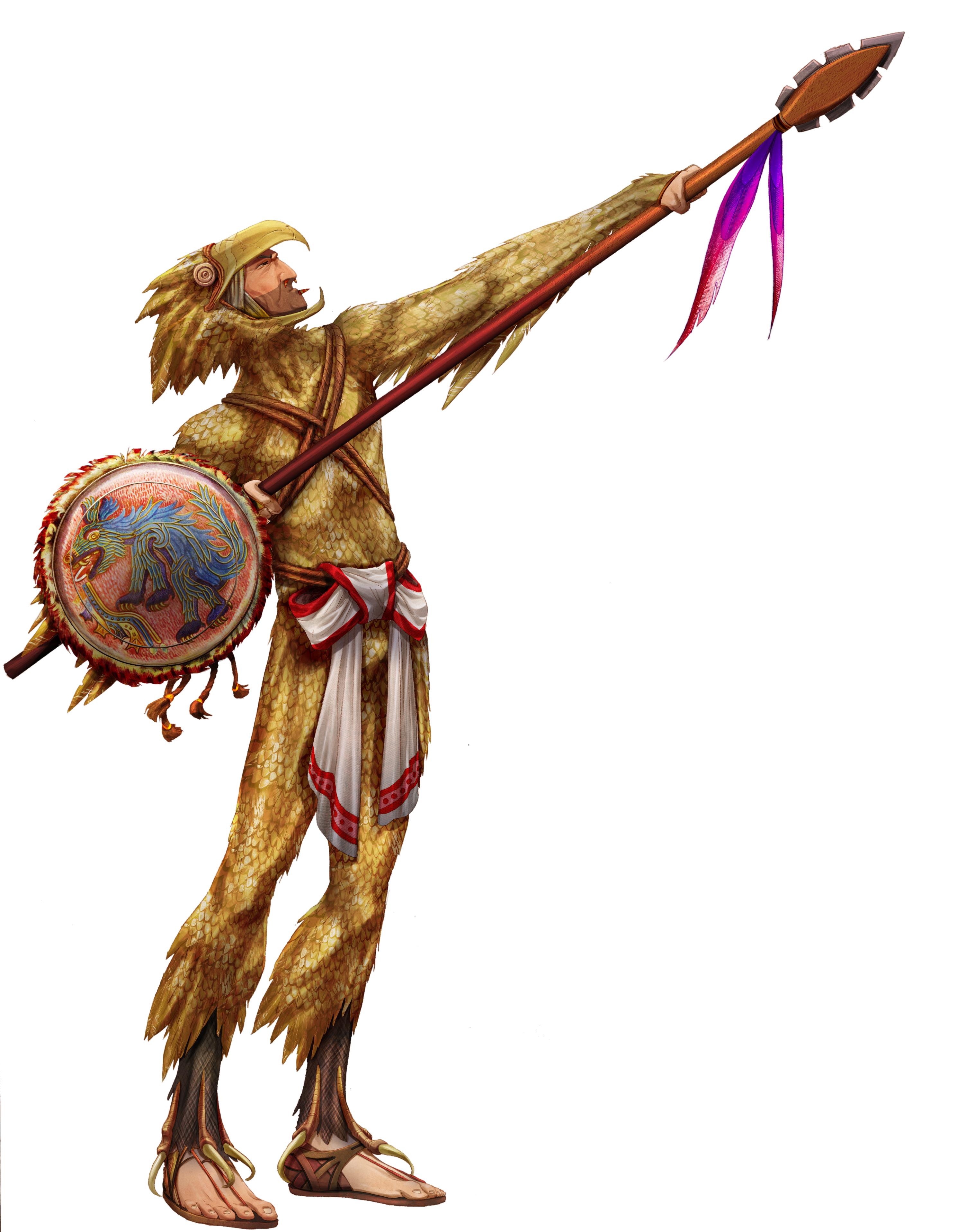 Aztec Warrior clipart south american J Eagle Jack Tezcatlipoca on