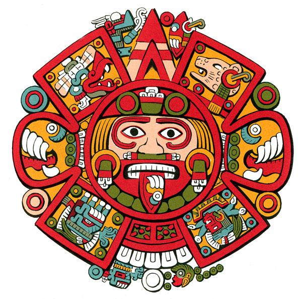 Aztec clipart drawing 4: Illustration elegant centre Pic