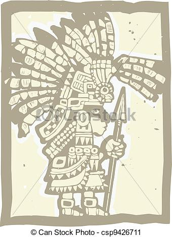Aztec Warrior clipart teotihuacan #2