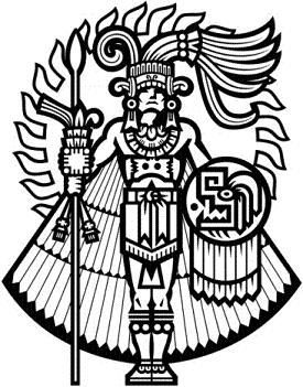 Aztec Warrior clipart tribal Pin on Aztec Juan by