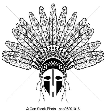 Aztec Warrior clipart tribal Warrior with American native