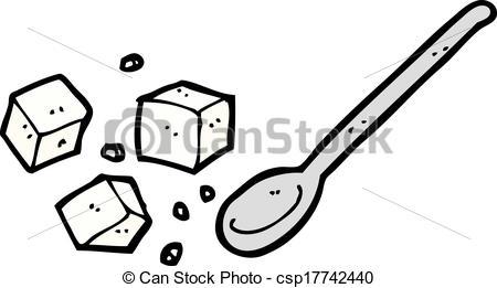 Azucar clipart Vector cartoon csp17742440 lumps Vector