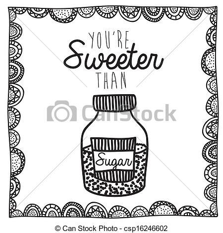 Azucar clipart Azucar Dibujo Encima dibujo Vector  azúcar