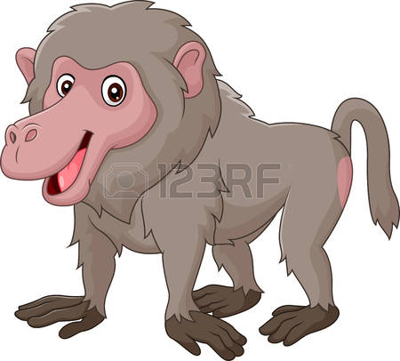 Baboon clipart brown monkey Baboon Clip collection clipart free