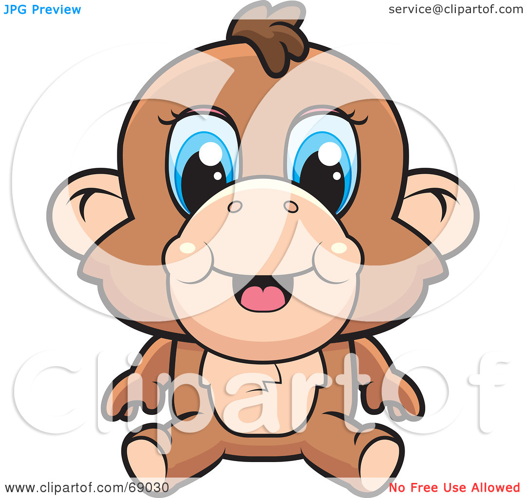 Baboon clipart baby Cory Eyes by Blue a