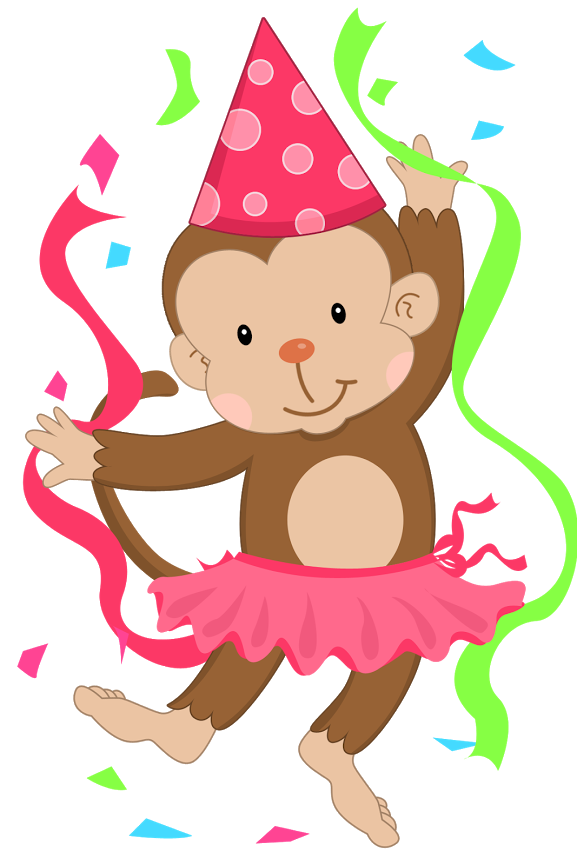 Baboon clipart birthday Cartoon Art Birthday Happy Drawings