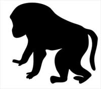 Baboon clipart black and white Free and Baboons Images