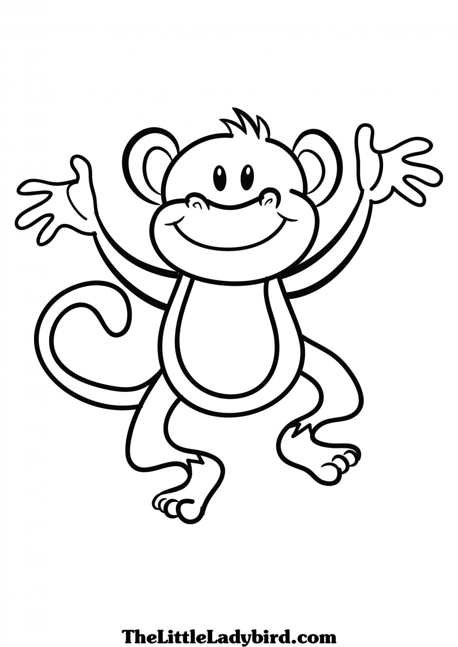 Baboon clipart black and white Clipart And and Baboon Black