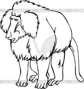 Baboon clipart black and white Black Clipart Baboon Baboon And