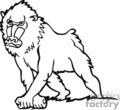 Baboon clipart black and white Photo#12 And and Black clipart