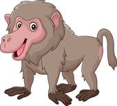 Baboon clipart cute Cartoon · Royalty Baboon baboon