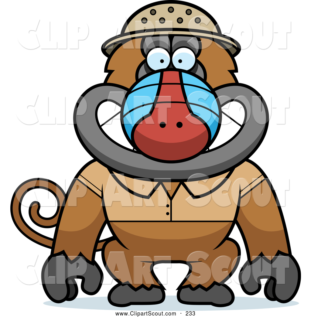 Baboon clipart cute Cute photo#5 Clipart Cute baboon