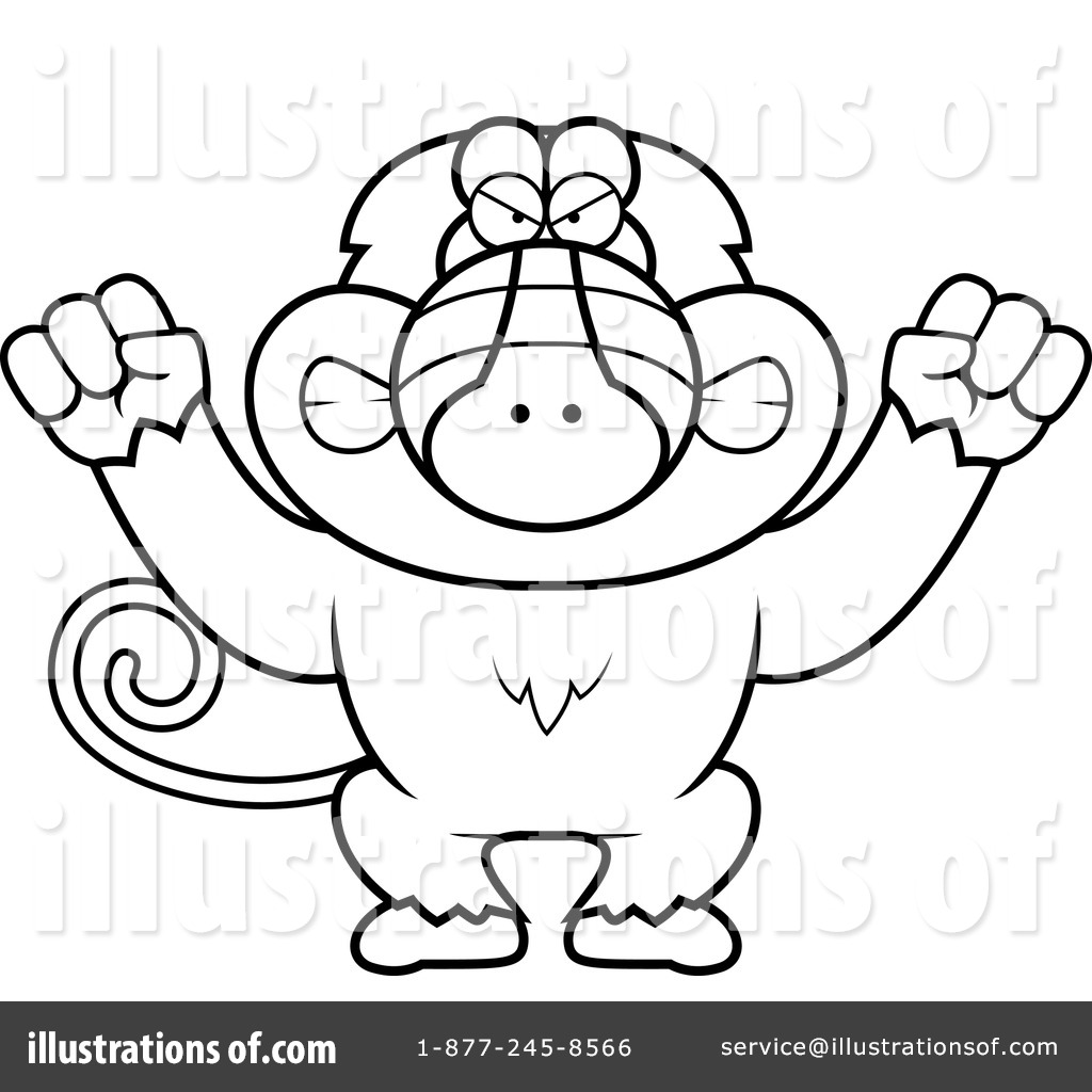 Baboon clipart drawing By (RF) Illustration #1143585 #1143585