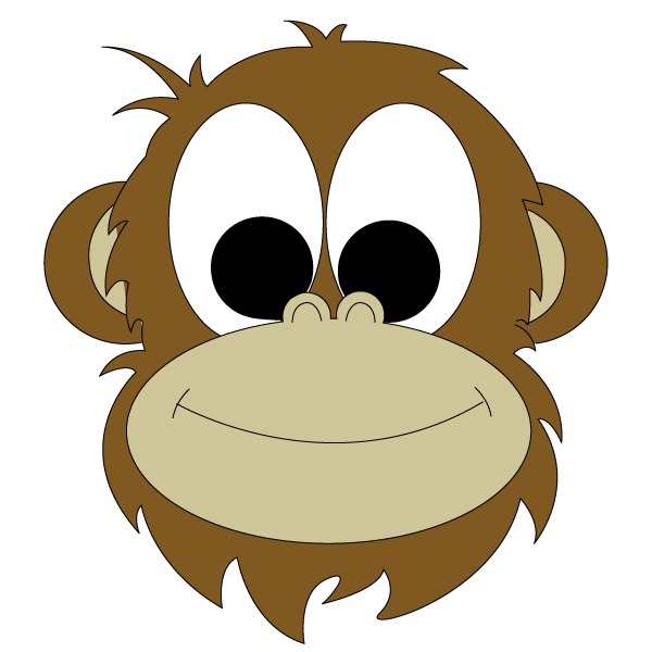 Baboon clipart face Drawing face Face photo#2 Baboon