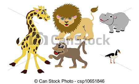 Baboon clipart omnivore Wild illustrations Isolated Vector Grouping