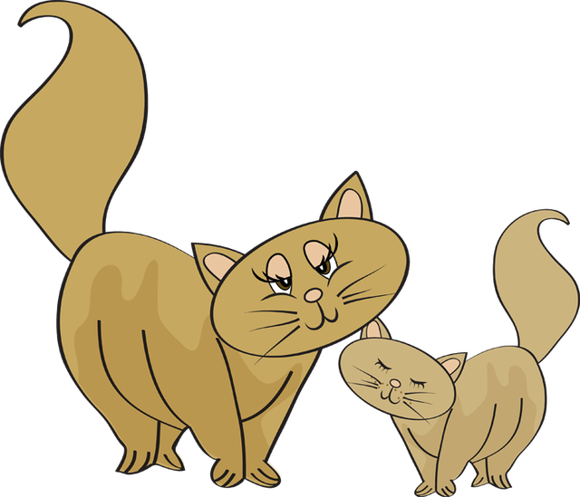 Cat clipart mother and baby Baby Clipart and And mother