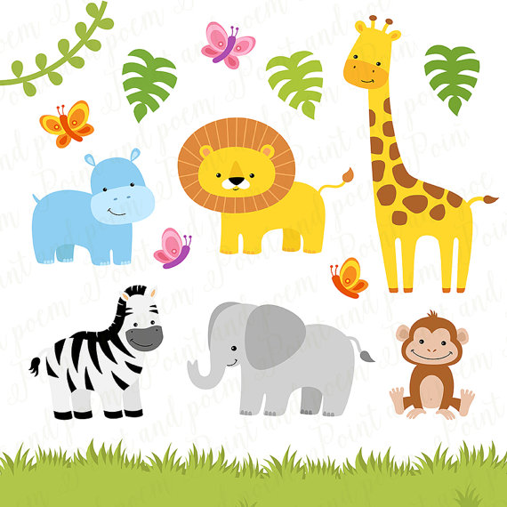 Baby Animal clipart wild animal Animals Clipart a file Cute