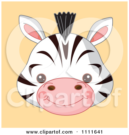 Baby Animal clipart pastel Baby zebra Cute  clipart