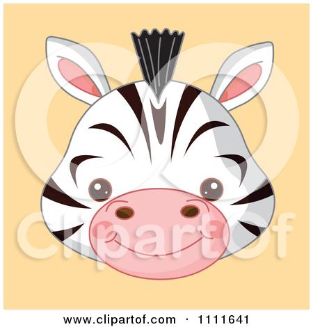 Baby Animal clipart woodland fox Zebra  head baby Cute