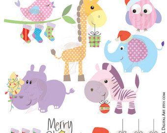 Baby Animal clipart pastel Clipart Cute Baby MayPLDigitalArt Clipart