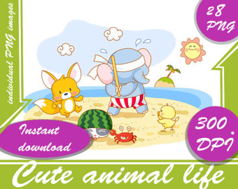 Baby Animal clipart the universe 300 PNG animals destroying Digital