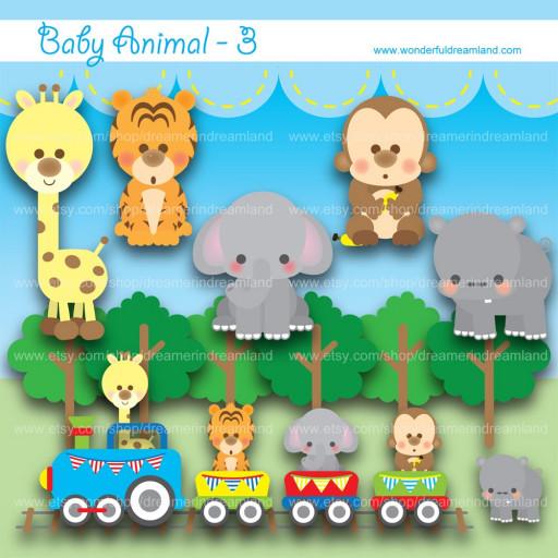 Baby Animal clipart train Art Train Train Clip